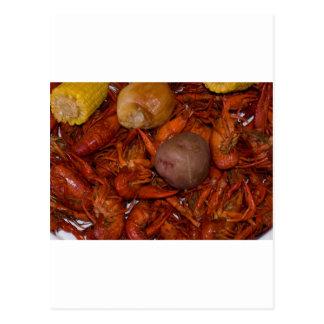 boiled crawfish postcard
