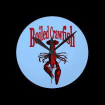 Boiled Crayfish or Crawfish Clock Face wall clocks
