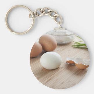 Boiled Eggs Keychain