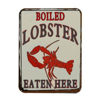 Boiled Lobster Eaten Here Magnet