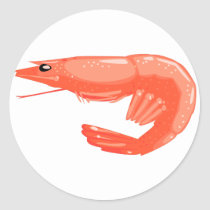 Boiled Shrimp Classic Round Sticker