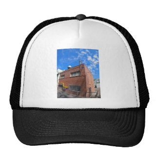 Boiler house with a gas pipe trucker hat