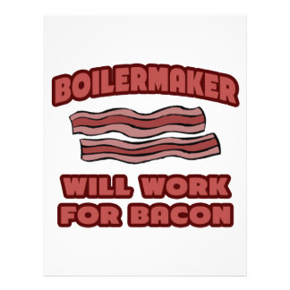 Boilermaker Will Work For Bacon Customized Letterhead