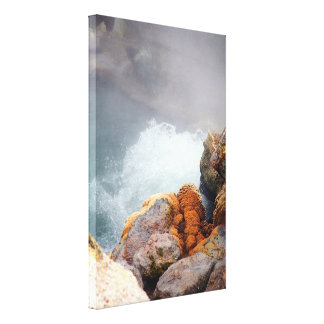 Boiling hot spring stretched canvas prints
