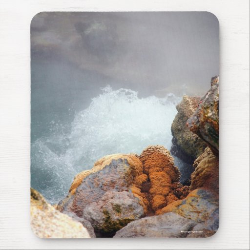 Boiling hot spring mousepad