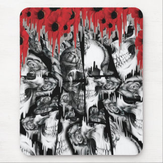 Boiling Point, destructed skull pattern Mouse Pad