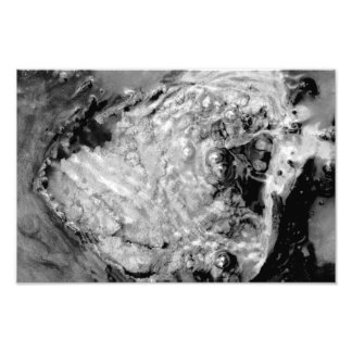 Boiling thermal water photographic print