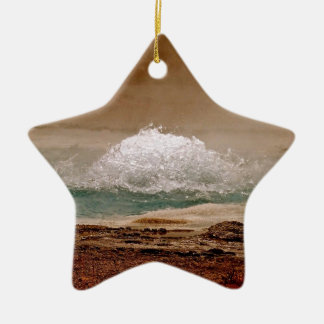 BOILING WATER VOLCANIC POOL IN YELLOWSTONE CERAMIC ORNAMENT