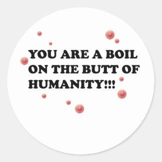 Boils Classic Round Sticker