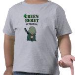 Boina verde en el entrenamiento camiseta