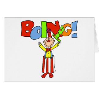Boing Clown Card