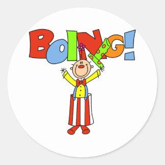 Boing Clown Classic Round Sticker