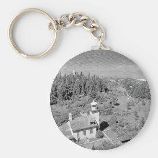 Bois Blanc Lighthouse Keychain