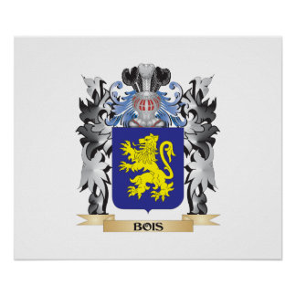 Bois Coat of Arms - Family Crest Poster