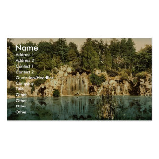 Bois du Boulougne (i.e., Boulogne), the cascade, P Double-Sided Standard Business Cards (Pack Of 100)