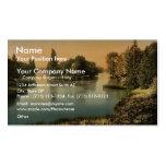 Bois du Boulougne (i.e., Boulogne), the lake, Pari Business Card Template