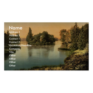 Bois du Boulougne (i.e., Boulogne), the lake, Pari Double-Sided Standard Business Cards (Pack Of 100)