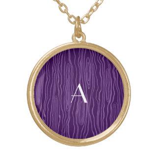 Bois púrpuras del monograma falsos grimpola personalizada