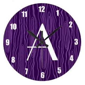 Bois púrpuras del monograma falsos reloj