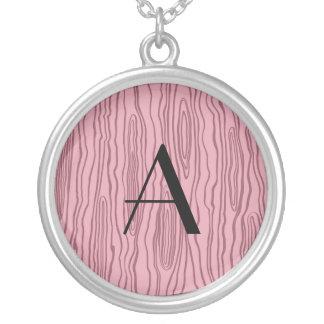 Bois rosados bonitos del monograma falsos grimpolas personalizadas