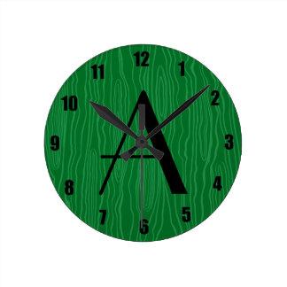 Bois verdes del monograma falsos reloj