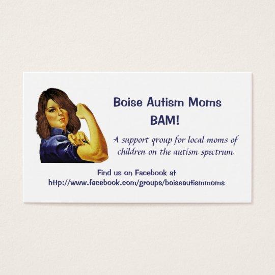 Boise autism moms business cards zazzle boise autism moms business cards colourmoves