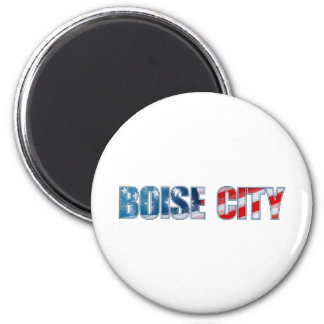 Boise City 2 Inch Round Magnet
