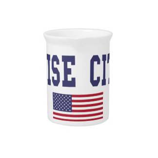 Boise City US Flag Drink Pitcher