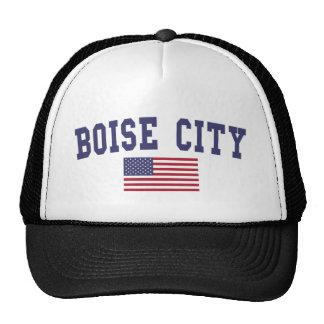 Boise City US Flag Trucker Hat