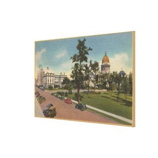 Boise, ID - View of Capital Park & Surrounding Canvas Print