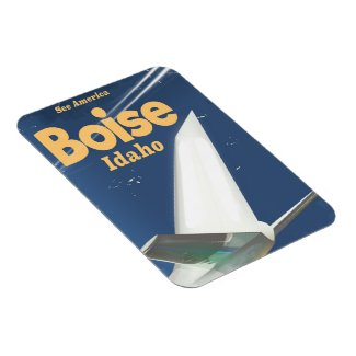 Boise Idaho flight poster Magnet