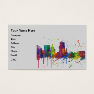 Boise state business cards templates zazzle boise idaho skyline business card colourmoves