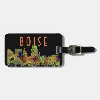Boise Idaho Skyline Safari Buff Luggage Tag