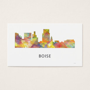 Boise state business cards templates zazzle boise idaho skyline wb1 business card colourmoves