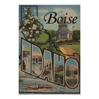 Boise, IdahoLarge Letter ScenesBoise, ID Poster