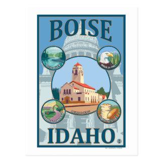 Boise, IdahoScenic Travel Poster Postcard