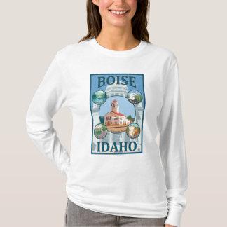 Boise, IdahoScenic Travel Poster T-Shirt