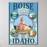 Boise, poster del viaje de IdahoScenic