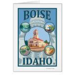 Boise, poster del viaje de IdahoScenic Felicitación