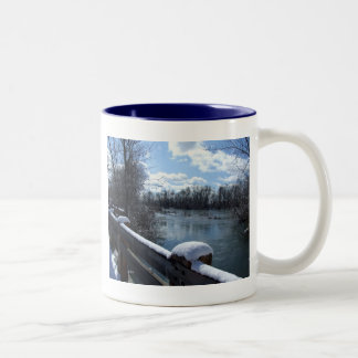 Boise River Bridge Two-Tone Coffee Mug