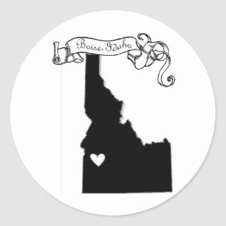 Boise Round Stickers