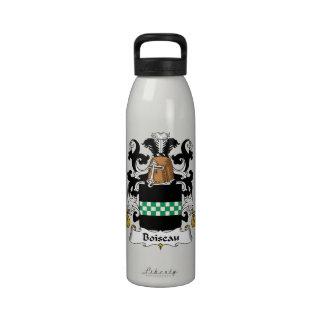 Boiseau Family Crest Water Bottles