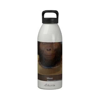 Boisei del Paranthropus objeto expuesto del museo Botella De Agua Reutilizable