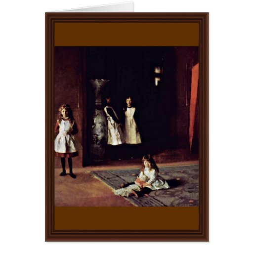 Boit Daughters By Sargent John Singer Cards