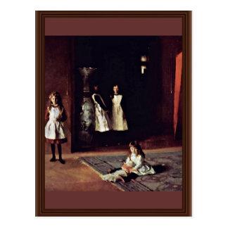 Boit Daughters By Sargent John Singer Postcard