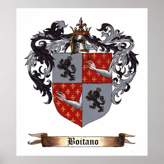 Boitano Shield of Arms Poster