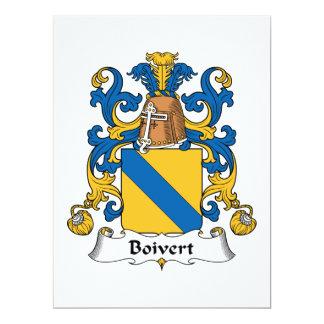 Boivert Family Crest Personalized Invitation