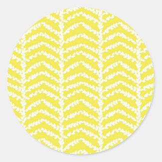 ¡Boj del limón de la etiqueta engomada! redondo