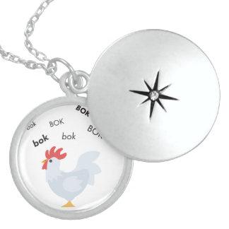 Bok Chicken Cute Emoji Locket Necklace