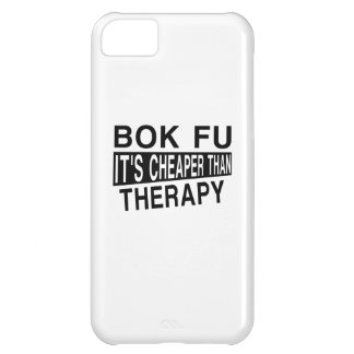 BOK FU IT'S CHEAPER THAN THERAPY iPhone 5C COVER
